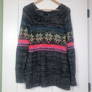 American Eagle Jegging Sweater M Fair Isle